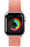 LAUT Sparkle Leather Apple Watch 40 mm bandje Roze