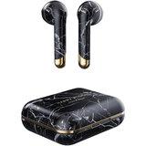 Happy Plugs Air 1 draadloze oordoppen met oplaadcase Marble Zwart