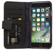 Decoded Leather Wallet iPhone SE 2020 hoesje Zwart
