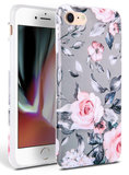 TechProtection Floral TPU iPhone SE 2020 hoesje Rose