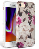 TechProtection Floral TPU iPhone SE 2020 hoesje Beige