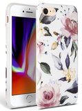 TechProtection Floral TPU iPhone SE 2020 hoesje Wit