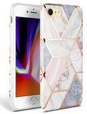 TechProtection Marble TPU iPhone SE 2020 hoesje Roze
