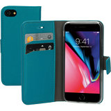 Mobiparts Saffiano Wallet iPhone SE 2020 / 8 hoesje Turquoise