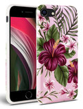 TechProtection Floral TPU iPhone SE 2020 hoesje Roze