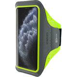 Mobiparts Comfort iPhone 11 Pro sportband  Neon Groen