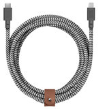 Native Union Belt XL USB-C naar Lightning kabel Zebra