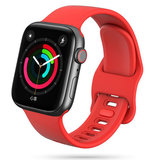 TechProtection Soft Apple Watch 44 / 42 mm bandje Rood