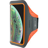 Mobiparts Comfort iPhone XSsportband Zwart Oranje