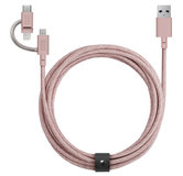 Native Union universele 3 in 1 Lightning kabel Rose