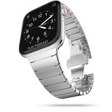 TechProtection Roestvrijstaal Links Apple Watch 44 / 42 mm bandje Zilver