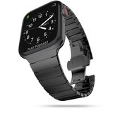 TechProtection Roestvrijstaal Links Apple Watch 44 / 42 mm bandje Zwart