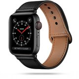 TechProtection Leren Apple Watch 44 / 42 mm bandje Zwart