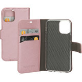 Mobiparts Saffiano Wallet iPhone 12 hoesje Rose