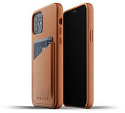 Mujjo Leather Wallet iPhone 12 Pro / iPhone 12 hoesje Tan