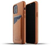 Mujjo Leather Wallet iPhone 12 Pro / iPhone 12 hoesje Tan