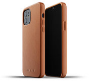 Mujjo Leather case iPhone 12 Pro / iPhone 12 hoesje Tan