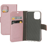Mobiparts Saffiano Wallet iPhone 12 mini hoesje Rose