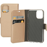 Mobiparts Saffiano Wallet iPhone 12 mini hoesje Copper