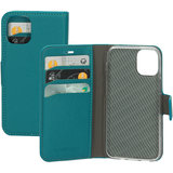 Mobiparts Saffiano Wallet iPhone 12 mini hoesje Turquoise