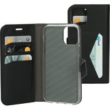 Mobiparts Classic Wallet iPhone 12 Pro / iPhone 12 hoesje Zwart