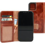 Mobiparts Excellent Wallet iPhone 12 Pro / iPhone 12 hoesje Cognac