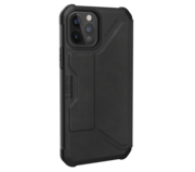 UAG Metropolis Leather iPhone 12 Pro / iPhone 12 hoesje Zwart