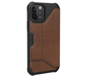 UAG Metropolis Leather iPhone 12 Pro / iPhone 12 hoesje Bruin