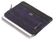 Decoded Denim iPad sleeve Code Blue
