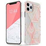 TechProtection Marble iPhone 12 Pro / iPhone 12 hoesje Roze