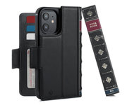 Twelve South BookBook iPhone 12 Pro / iPhone 12 hoesje Zwart
