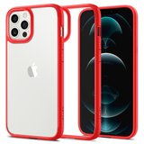 Spigen Ultra Hybrid iPhone 12 Pro / iPhone 12 hoesje Rood