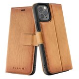 Bugatti Leather Zurigo iPhone 12 Pro / iPhone 12 hoesje Cognac