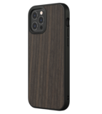 RhinoShield SolidSuit iPhone 12 Pro / iPhone 12 hoesje Zwart Oak Hout