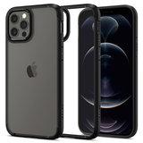Spigen Crystal Hybrid iPhone 12 Pro / iPhone 12 hoesje Zwart