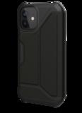 UAG Metropolis iPhone 12 mini hoesje Leather Zwart