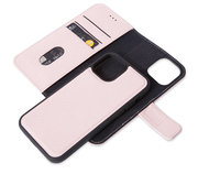 Decoded Leather 2 in 1 Wallet iPhone 12 Pro / iPhone 12 hoesje Rose