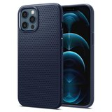 Spigen Liquid Air iPhone 12 Pro / iPhone 12 hoesje Navy