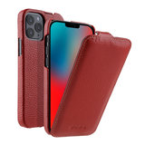 Melkco Leather Jacka iPhone iPhone 12 Pro Max hoesje Rood
