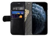 Melkco Wallet iPhone 12 Pro / iPhone 12 hoesje Zwart