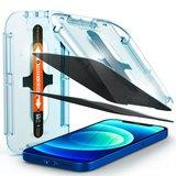 Spigen GlastR EZ Fit Privacy iPhone 12 mini glazen screenprotector 2 pack