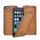 Bugatti Leather Flipcase Adam iPhone 6/6S Cognac