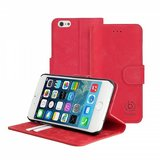 Bugatti Leather Bookcase Madrid iPhone 6/6S Red