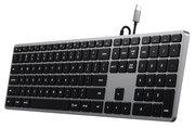 Satechi Slim X3 bedraad USB-C backlit toetsenbord Grijs