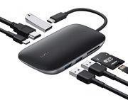 Aukey Unity 7 in 1 USB-C hub met 100 watt oplader