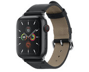 Native Union Classic Apple Watch 44 mm bandje Zwart