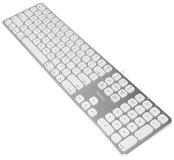 Macally MLUXKEYA bedraad aluminium toetsenbord met USB hub