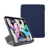 Pipetto Shield Origami iPad Air 2020 10,9 inch hoesje Donkerblauw