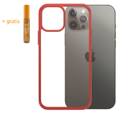 PanzerGlass ClearCase iPhone 12 Pro / iPhone 12 hoesje Rood