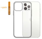 PanzerGlass ClearCase iPhone 12 Pro Max hoesje Zilver